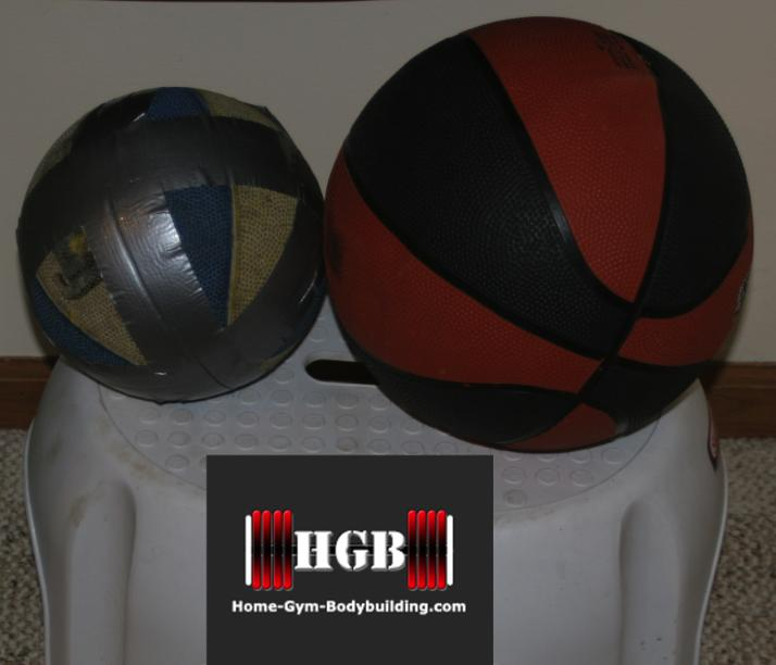 Homemade Medicine Ball Using An Old Basketball And Sand
