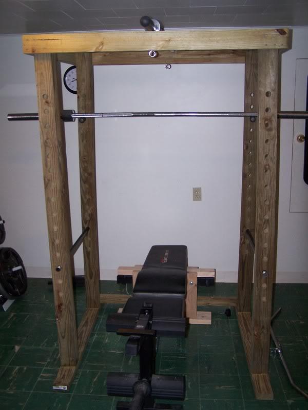 Homemade 4x4 power rack for Homemade squat rack