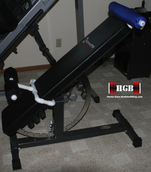 Homemade Hyperextension Bench Using The Ironmaster Super Bench