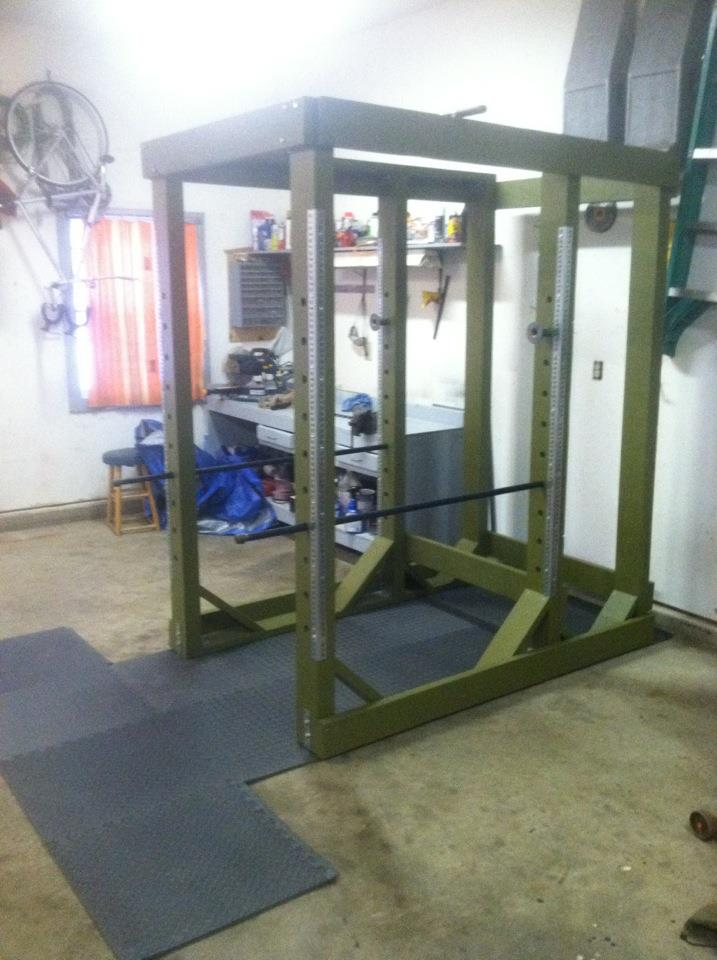 Homemade Power Rack Photos