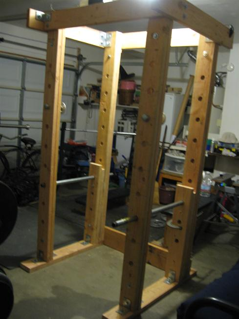 homemade power rack photos. Black Bedroom Furniture Sets. Home Design Ideas
