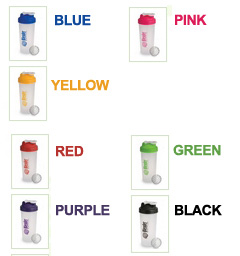 blender bottle colors