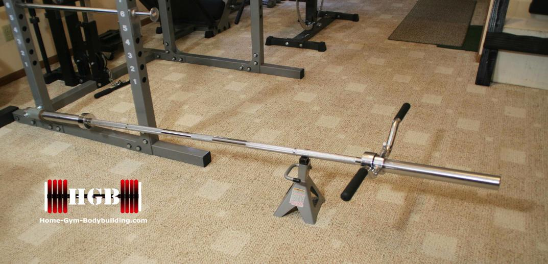 Homemade t-bar row, Homemade exercise equipment