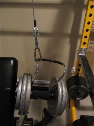 homemade dumbbell spotter