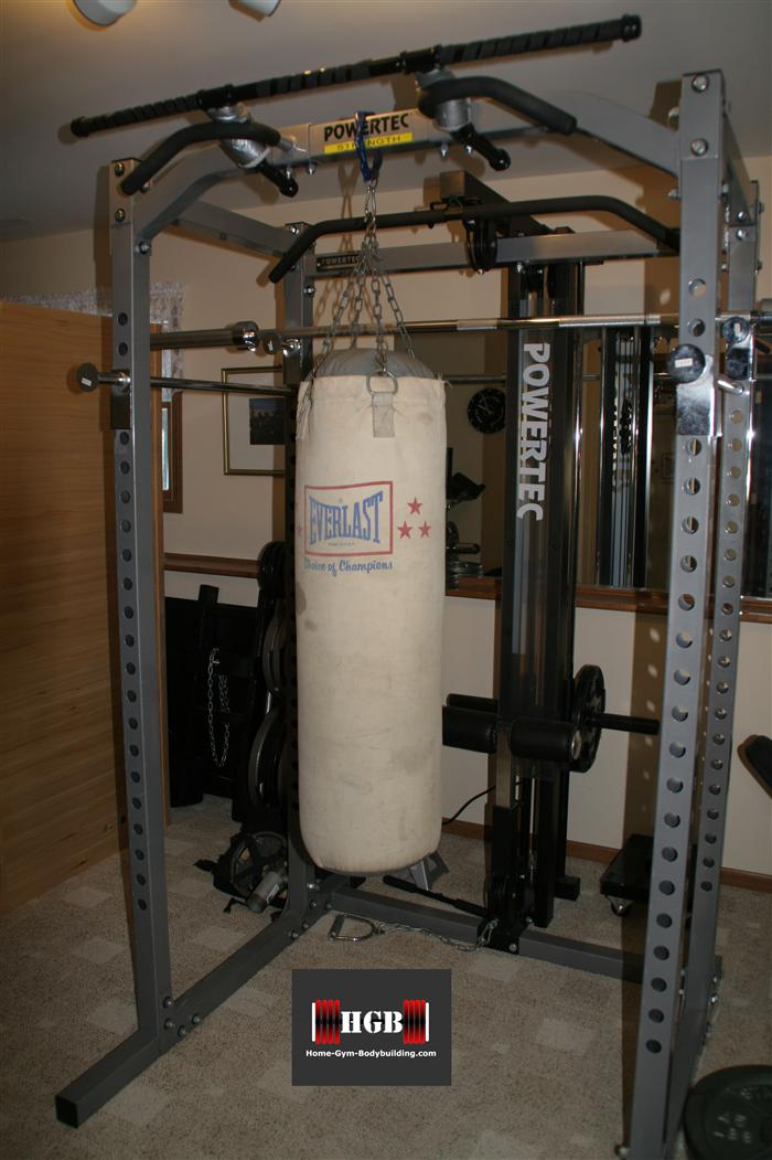 hanging homemade heavy bag stand