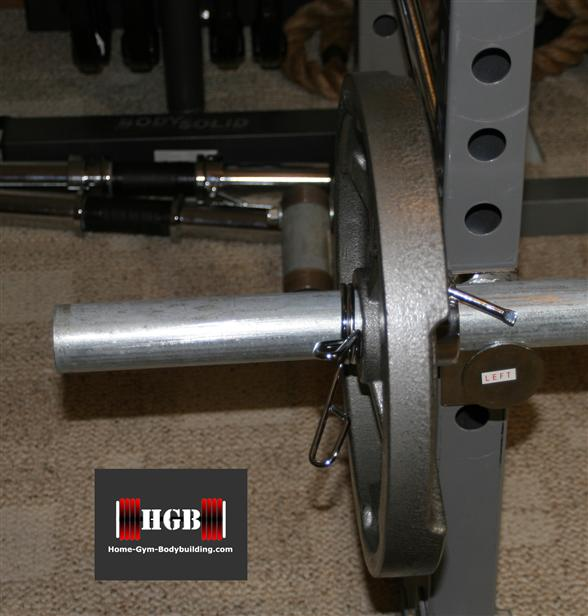Homemade thick handled barbell