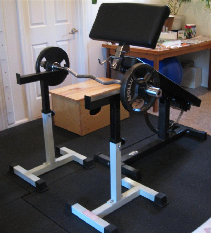 Ironmaster preacher curl attachment review for Homemade safety squat bar