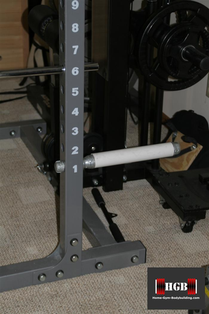 homemade olympic plate holder & Homemade power rack plate holder