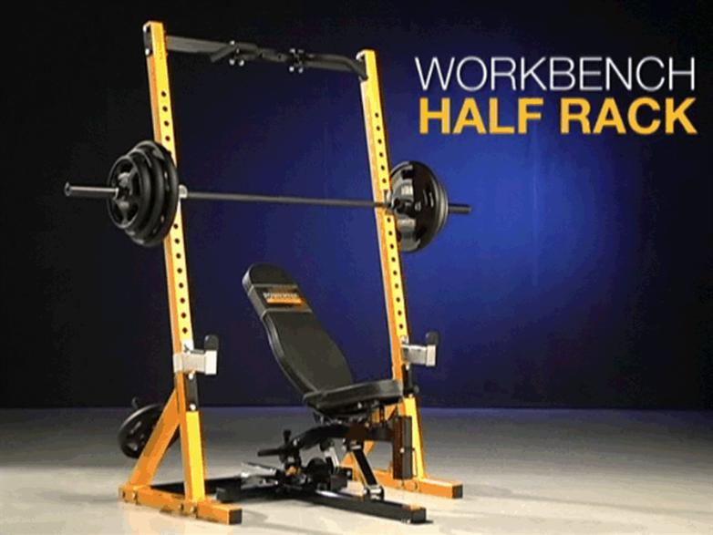 powertec half rack