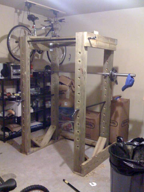 homemade power rack