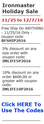 Ironmaster coupon code