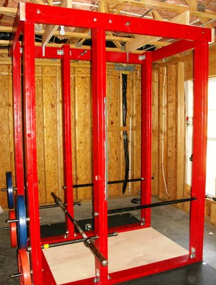 big daddy homemade power rack platform