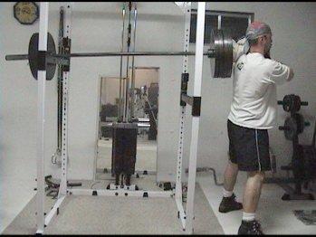 Homemade hack squat machine