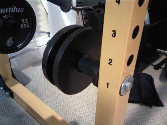 homemade olympic plate holder
