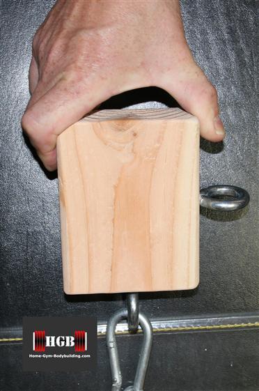 homemade pinch grip block