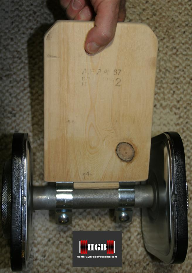 homemade pinch grip block