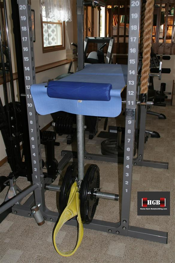 Homemade Reverse Hyperextension machine