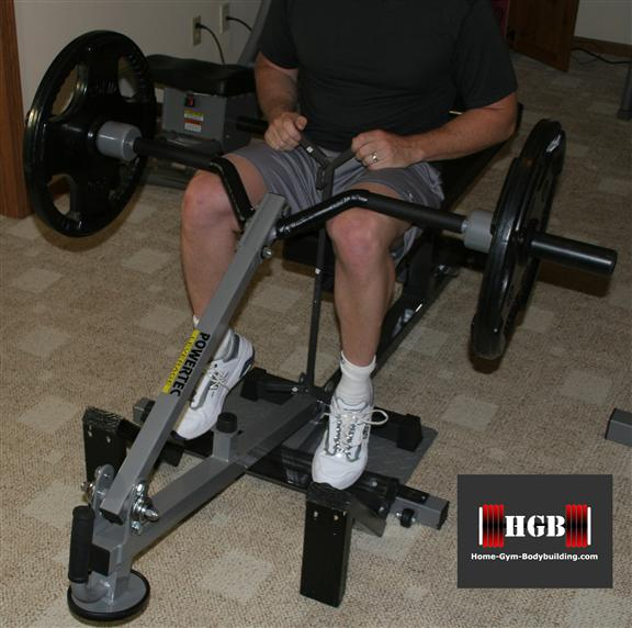homemade seated calf raise machine