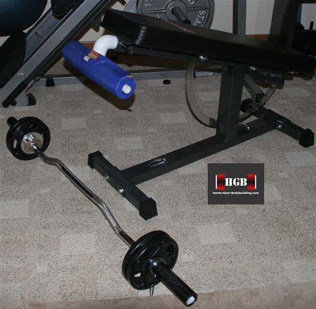 homemade spider curl bench