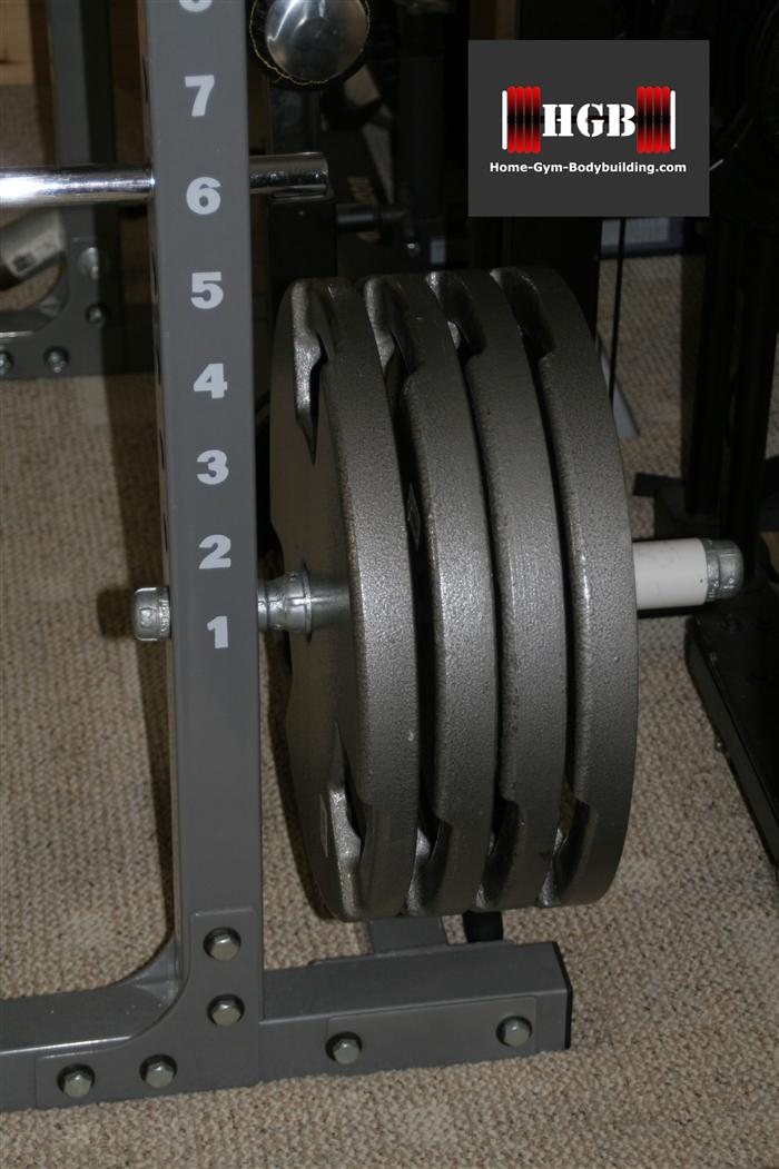 Homemade power rack plate holder