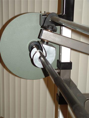 self spotting barbell