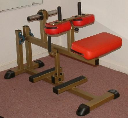 Reverse calf machine