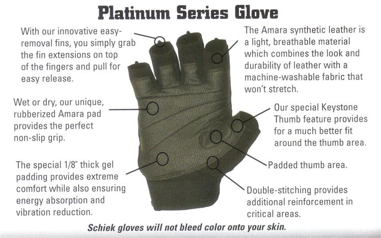 schiek platinum model 540 weight lifting gloves
