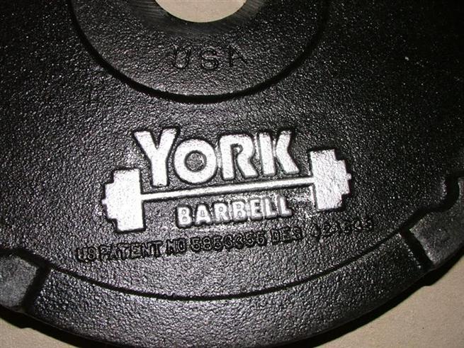 YORK G-2 Olympic Dual Grip Plate