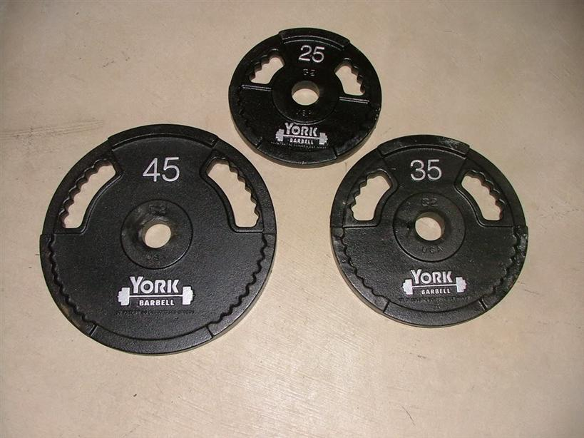york g2 olympic dual grip plate